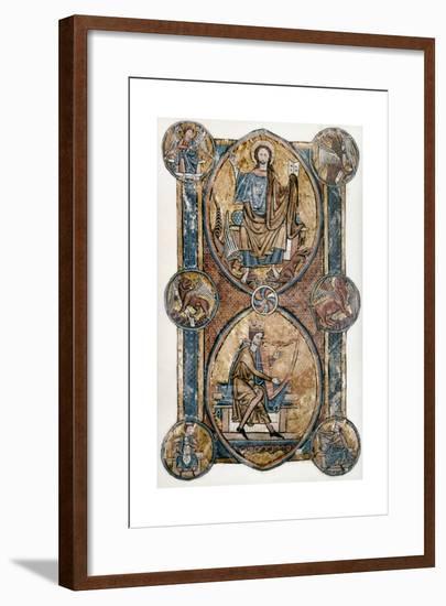 Christ and David--Framed Giclee Print