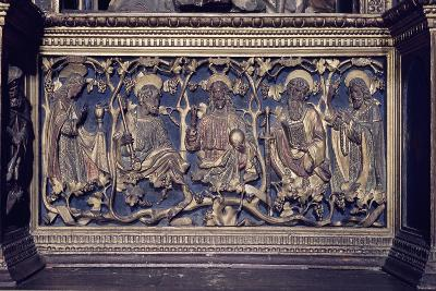Christ and Four Saints, Detail Gilded Reliefs, Church of San Fedele, Como, Italy, 12th Century--Giclee Print