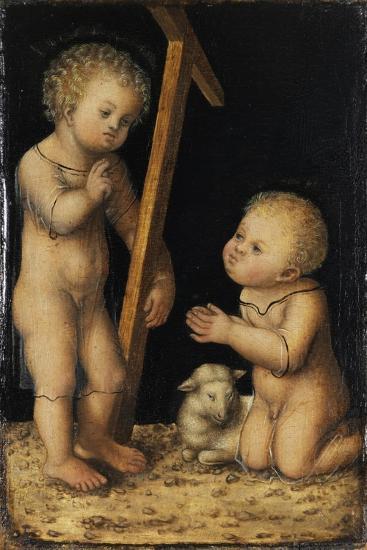 Christ and John the Baptist as Children-Lucas Cranach the Elder-Giclee Print