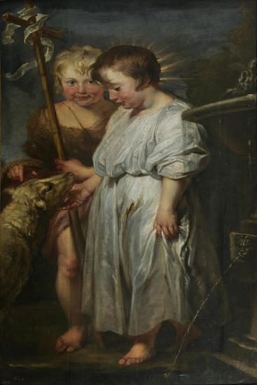 Christ and John the Baptist as Children-Peter Paul Rubens-Giclee Print
