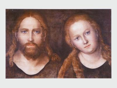Christ and Mary , 1516–20-Lucas Cranach the Elder-Art Print