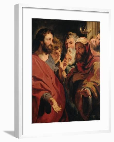 Christ and Nicodemus-Jacob Jordaens-Framed Giclee Print