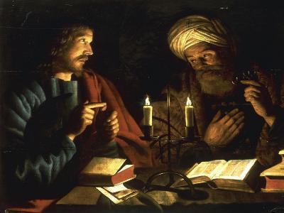 Christ and Nicodemus-Crijn Hendricksz Volmarijn-Giclee Print