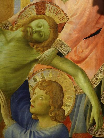 Christ and Saint John, from the Deposition of Christ, 1435, from Holy Trinity Altarpiece (Detail)-Fra Angelico-Giclee Print