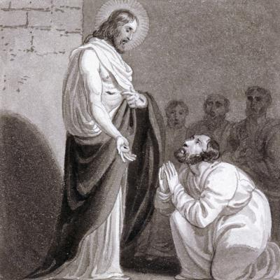 Christ and St Thomas, C1810-C1844-Henry Corbould-Giclee Print