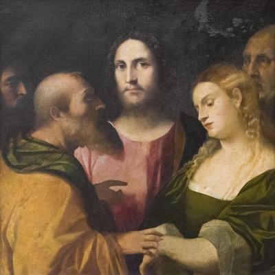 Christ and the Adulteress, 1525-28-Jacopo Palma-Giclee Print