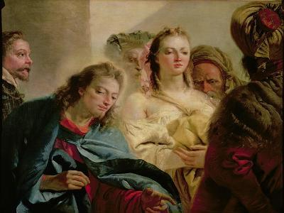 Christ and the Adulteress, 1751-Giandomenico Tiepolo-Giclee Print