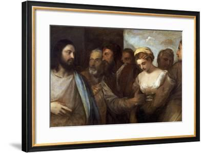 Christ and the Adultress by Titian--Framed Photographic Print