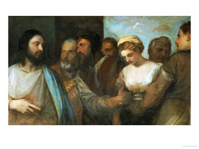 Christ and the Adultress; Unfinished, 1512-1515-Titian (Tiziano Vecelli)-Giclee Print
