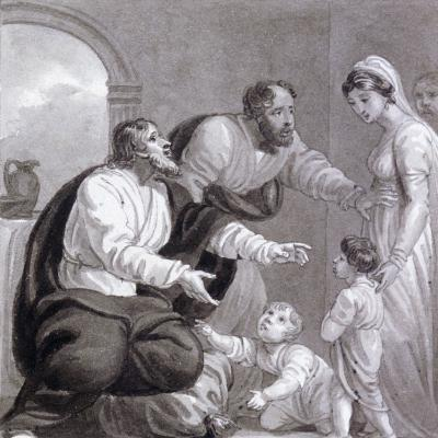 Christ and the Children, C1810-C1844-Henry Corbould-Giclee Print