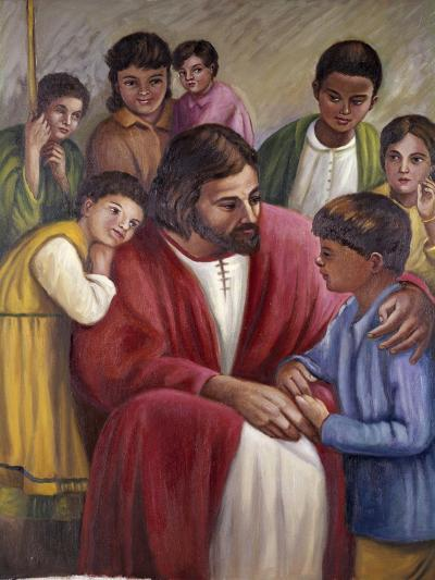 Christ and the Children of All Races-Vittorio Bianchini-Giclee Print