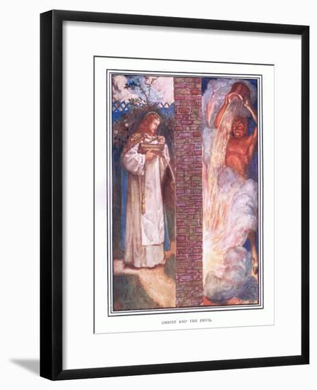 Christ and the Devil-John Byam Liston Shaw-Framed Giclee Print