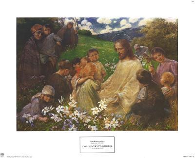 Christ and the Little Children-Endre Komaromi-Kacz-Art Print