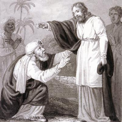 Christ and the Rich Man with the Dying Son, C1810-C1844-Henry Corbould-Giclee Print