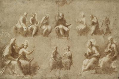 Christ and the Saints in Glory (Study for the Disputa)-Raphael-Giclee Print