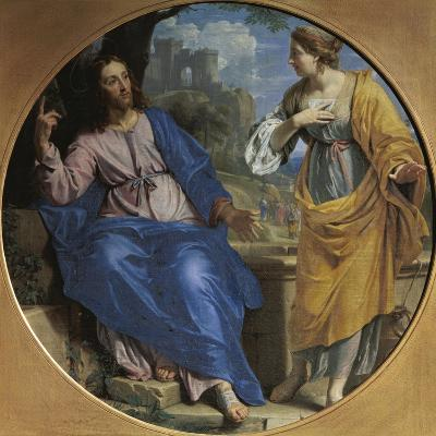 Christ and the Samaritan Woman at the Well, 1648-Philippe De Champaigne-Giclee Print