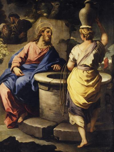Christ and the Samaritan Woman at the Well, C. 1697-Luca Giordano-Giclee Print