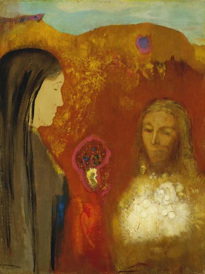 Christ and the Samaritan Woman-Odilon Redon-Giclee Print