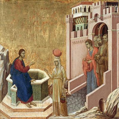 Christ and the Samaritan Woman-Duccio di Buoninsegna-Giclee Print