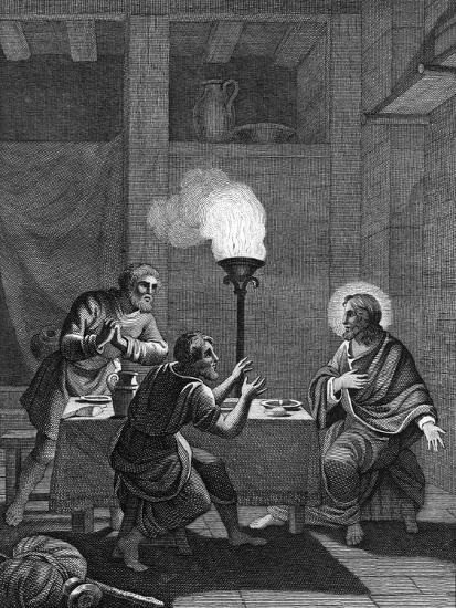 Christ and the Two Disciples at Emmaus, 1814--Giclee Print