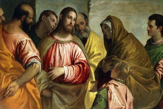 Christ and the Widow of Nain, C.1550-55-Paolo Caliari-Giclee Print