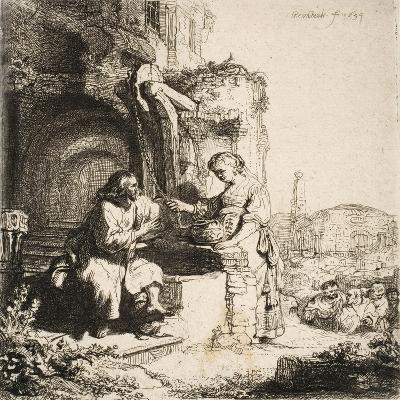 Christ and the Woman of Samaria, 1634--Giclee Print