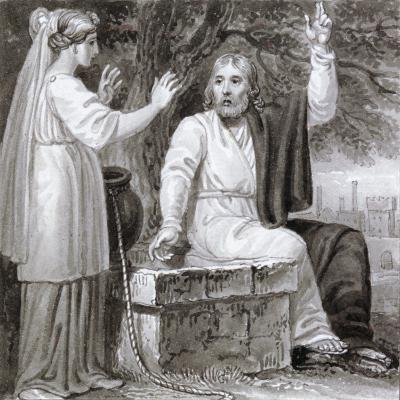 Christ and the Woman of Samaria, C1810-C1844-Henry Corbould-Giclee Print