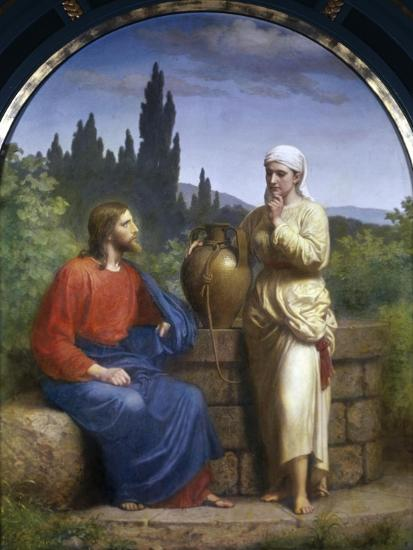 Christ and the Woman of Samaria-Anton Laurids Johannes Dorph-Giclee Print