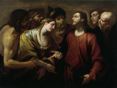 Christ and the Woman Taken in Adultery-Giovacchino Assereto-Giclee Print