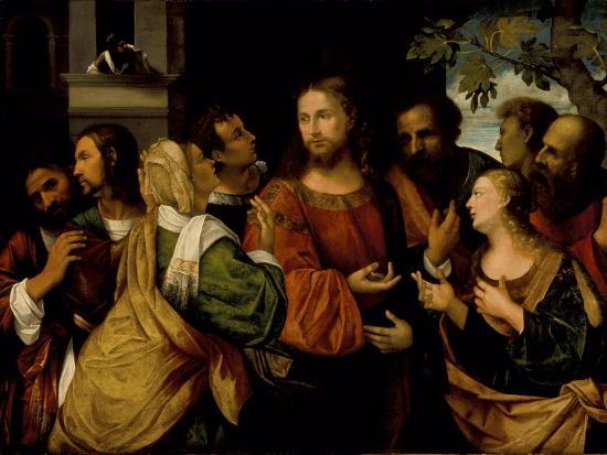 Christ and the Women of Canaan, c.1520-Rocco Marconi-Giclee Print