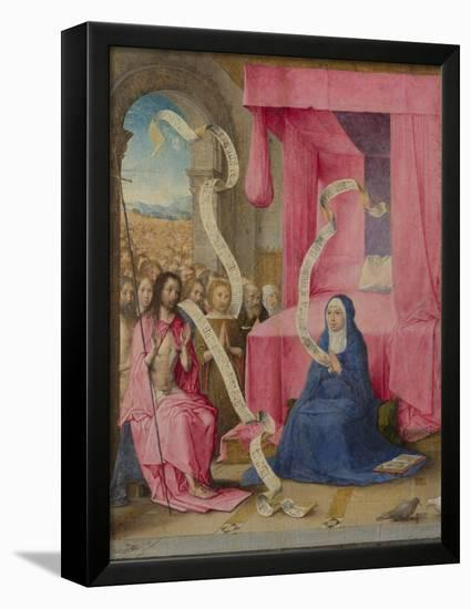 Christ Appearing to the Virgin with the Redeemed of the Old Testament, C. 1500-Juan de Flandes-Framed Stretched Canvas Print
