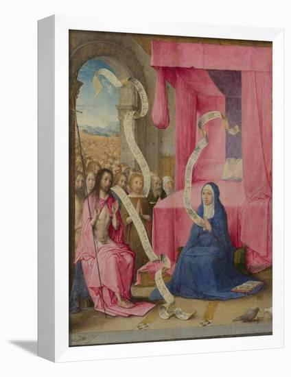 Christ Appearing to the Virgin with the Redeemed of the Old Testament, C. 1500-Juan de Flandes-Framed Premier Image Canvas