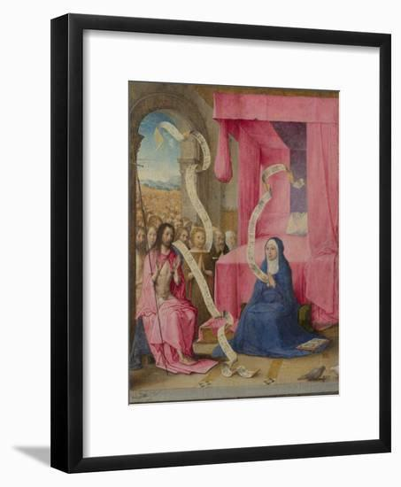 Christ Appearing to the Virgin with the Redeemed of the Old Testament, C. 1500-Juan de Flandes-Framed Giclee Print