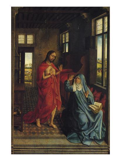 Christ Appearing to the Virgin-Rogier van der Weyden-Art Print