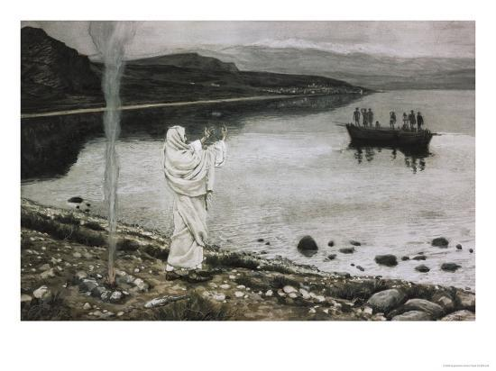 Christ Appears on the Borders of the Tiberius Sea-James Tissot-Giclee Print