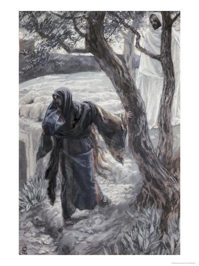 Christ Appears to Mary Magdalene-James Tissot-Giclee Print