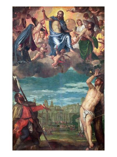 Christ Arresting the Plague with the Prayers of the Virgin, St. Rocco and St. Sebastian-Paolo Veronese-Giclee Print