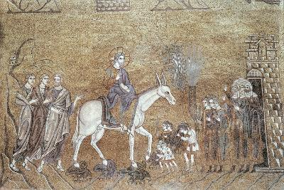 Christ Arriving in Jerusalem, Mosaic in Ascension Dome, St. Mark's Basilica, Venice, Italy--Giclee Print