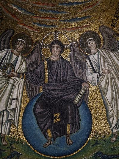 Christ as the Redeemer and Two Archangels--Giclee Print