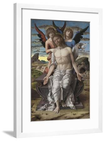Christ as the Suffering Redeemer, 1495-1500-Andrea Mantegna-Framed Giclee Print