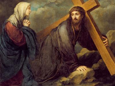 Christ at Calvary-Bartolome Esteban Murillo-Giclee Print