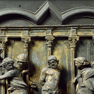 Christ at Column, Bronze Panel--Giclee Print
