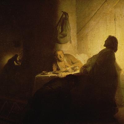 Christ at Emmaus-Rembrandt van Rijn-Giclee Print