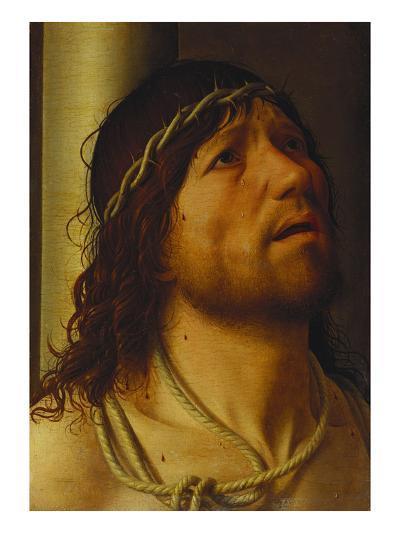 Christ at the Column-Antonello da Messina-Giclee Print