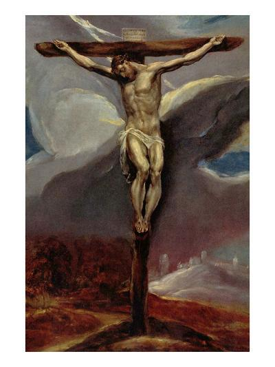 Christ at the Cross-El Greco-Art Print
