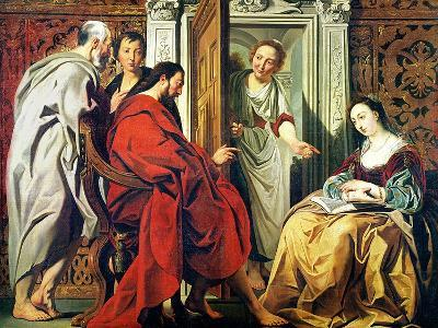 Christ at the House of Martha and Mary of Bethany-Jacob Jordaens-Giclee Print