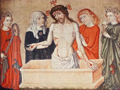 Christ at the Sepulchre, Supported by His Mother and Saint John--Giclee Print