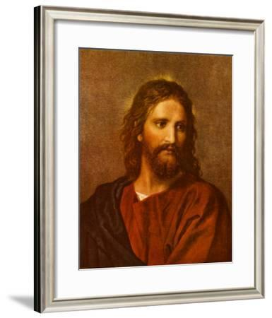 Christ at Thirty-Three-Heinrich Hofmann-Framed Art Print