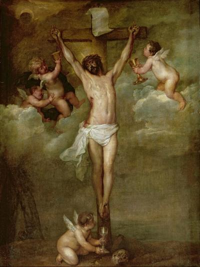 Christ Attended by Angels Holding Chalices-Peter Paul Rubens-Giclee Print