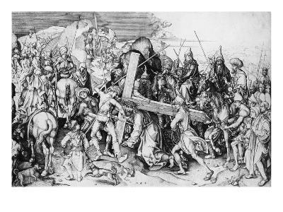 Christ Bearing His Cross, C.1475 (Engraving)-Martin Schongauer-Giclee Print
